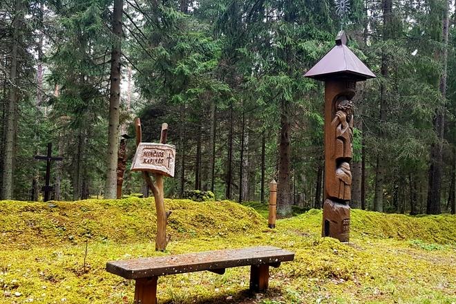 Кладбищев в лесу Минчя