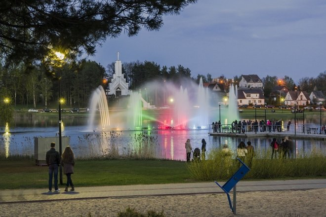 Parc Dauniškis et fontaine