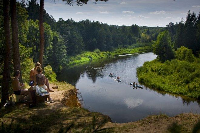 """Baidarėmis """"Šventosios upe Lietuvoje"""""""